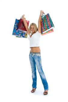 Free Beautiful Woman With Gift Stock Photo - 4400190