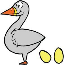 Free Cute Bird Laying Eggs Illustration Vector Royalty Free Stock Photo - 4401945