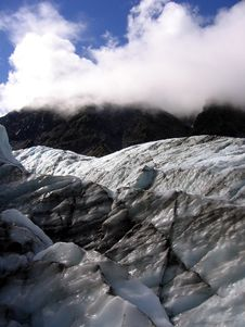 Icy Fox Glacier Stock Photo
