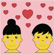 Free Boy And Girl In Love Illustration Vector Royalty Free Stock Photos - 4402248