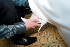 Free Putting On A Shoe Stock Images - 4402544