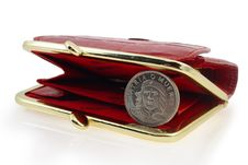 Free Red Wallet And Cuban Coin Royalty Free Stock Image - 4402676