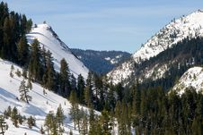 Big Snowy Mountains Stock Images