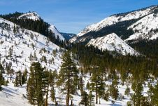 Big Snowy Mountains Royalty Free Stock Image