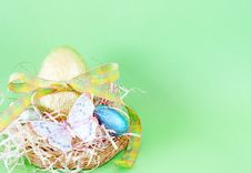 Free Colorful Wrapped Easter Eggs Stock Image - 4403111