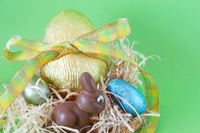 Free Colorful Wrapped Chocolate Easter Eggs Stock Image - 4403141