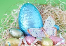 Free Colorful Wrapped Chocolate Easter Eggs Stock Images - 4403254