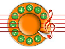 Dial And Music Royalty Free Stock Photography