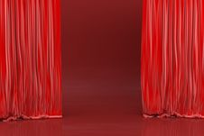 Free Stage, Red Shades Stock Image - 4403591