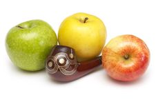 Free Long Ornamented North-caucasian Pipe With Apples Stock Images - 4403864