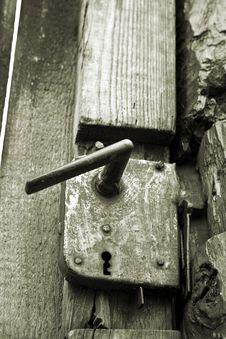 Free Closeup On Antique Rusty Door Handle Stock Photo - 4403990