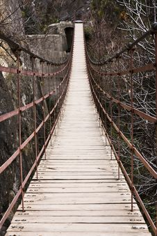 Old Suspension Bridge Stock Image