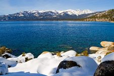 Free Lake In Winter Stock Photo - 4404640