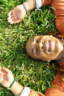 Free Lying On Grass Stock Image - 4405251