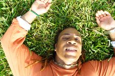 Free Lying On Grass Stock Photos - 4405253
