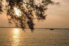 Free Sunset At Port Klang Stock Image - 4405941