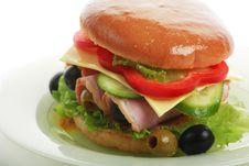 Free Big Hamburger Stock Image - 4406301