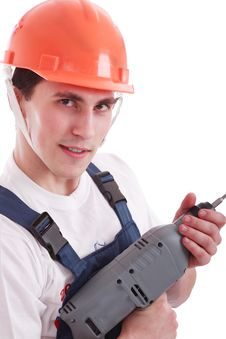 Free Drill Man Stock Photo - 4406380
