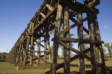 Free Histroric Rail Bridge Royalty Free Stock Image - 4406426