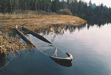 Free Sunken Boat Stock Image - 4407151