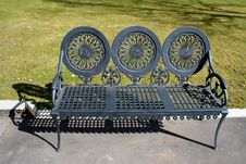Bench Of Cast Iron Royalty Free Stock Photos