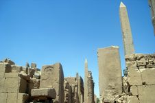 Ruins Of Karnak Stock Photo