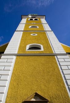 Free Bell Tower From Low Perspective Stock Image - 4408181