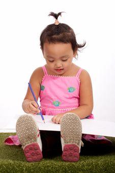 Smart Little Girl Stock Photography