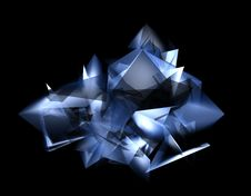Free Abstract Blue Shape Royalty Free Stock Photography - 4408567