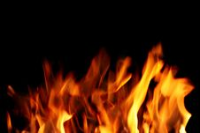 Free Close Up Of Fire Stock Photo - 4408990