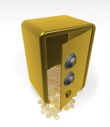 Free Safe Gold Open Royalty Free Stock Photography - 4409087