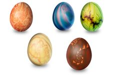 Five Eggs Stock Photos