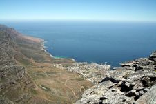 View From Table Mountain Royalty Free Stock Photos