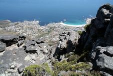 View From Table Mountain Royalty Free Stock Image
