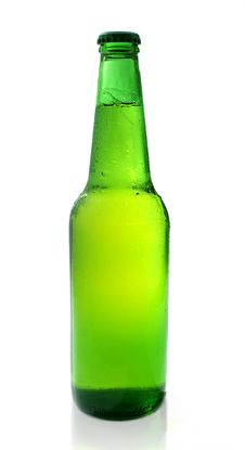 Free Cold Chilled Beer In Green Bot Stock Photo - 4409350