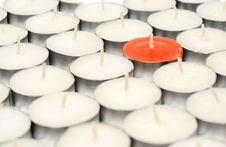 Free Orange Candle. Stock Images - 4409974