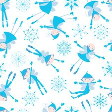 Free Background Of The Winter Elves Stock Photography - 44095202