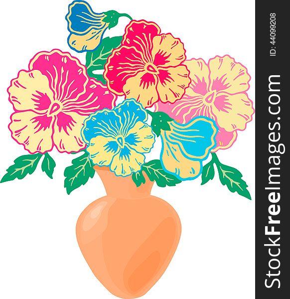 Bouquet of violas