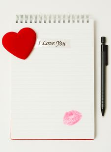Free Love Letter. Royalty Free Stock Photography - 4410287