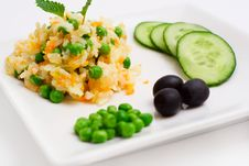 Pilau With Vegetables. Royalty Free Stock Images