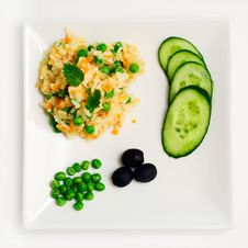 Pilau With Vegetables. Stock Photography