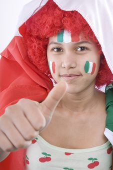 Italy Fans Stock Photos