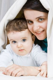 Free Mum Embracing The Small Son To Which 7 Months Stock Photo - 4412470