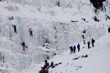 Free Ice Climbing People Stock Image - 4413231