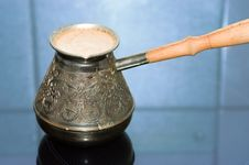 Free Turkish Coffee Pot With Coffee Royalty Free Stock Photos - 4413608