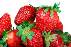 Free Set Of A Strawberry Isolated On A White Background Royalty Free Stock Photos - 4413748
