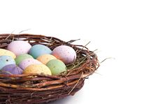 Free Close-up Easter Egg Nest Stock Photos - 4413953