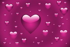 Free Pink Hearts Stock Photos - 4414263