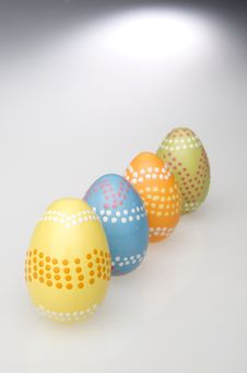 Free Colorful Easter Eggs Hand Painted Royalty Free Stock Images - 4414709