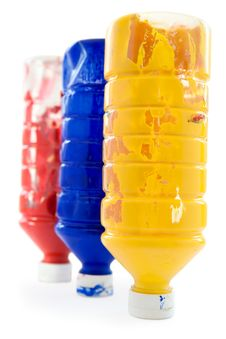 Free Three Bottles Of Paint Royalty Free Stock Images - 4414779